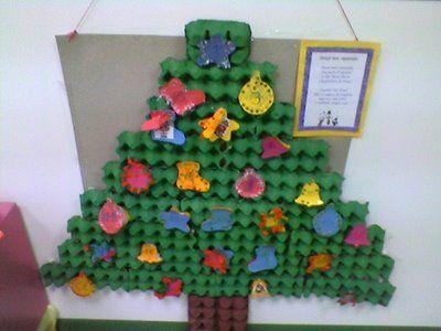 reciclando en preescolar arbol navide o