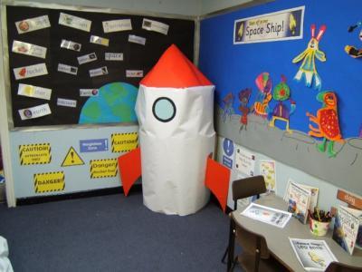 Ha aterrizado un cohete en clase??